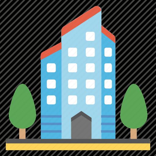 business arcade, head office, modern building, multi storey, skyscraper icon