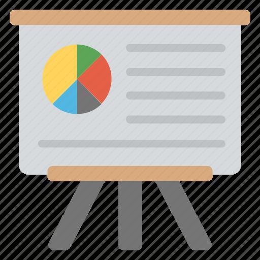 business analytics, business presentation, data visualization, statistics, whiteboard graph icon