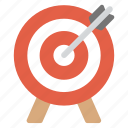 aim, goal, intention, mission, target icon