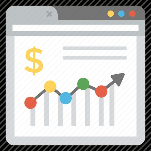 financial dashboard, online investment trading, online stock exchange, online stock market, web analytics icon