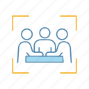 businessman, company, conference, friend, investor, meeting, partner icon