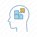 brainstorm, problem, process, puzzle, solution, solve, thinking icon