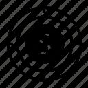 dollar, focus, goal, money, target icon