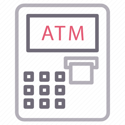 atm, bank, cash, machine, withdraw icon