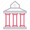 bank, building, business, court, office icon