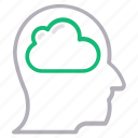 brain, business, cloud, head, mind icon