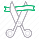 business, cut, opening, scissor, startup icon