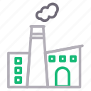 business, factory, industry, plant, smoke icon