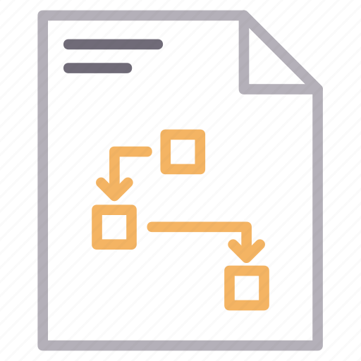 document, file, flowchart, planning, strategy icon