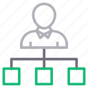 connection, employee, network, sharing, user icon