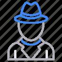 agent, avatar, employee, secret, spy icon