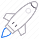 boost, business, rocket, spaceship, startup icon