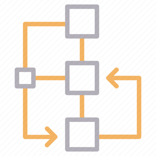 flowchart, graph, planning, startup, strategy icon