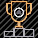 achievement, goal, podium, reward, success icon