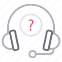 headset, help, question, services, support icon