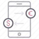 exchange, mobile, online, phone, transfer icon