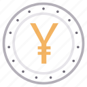 cash, coin, currency, money, yen