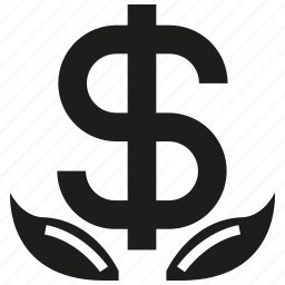 business, dollar, invest, leaf, money icon