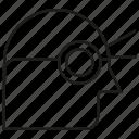 eye, head, vision icon