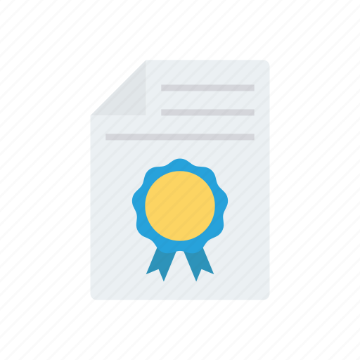 accepted, approved, award, certificate, prize icon