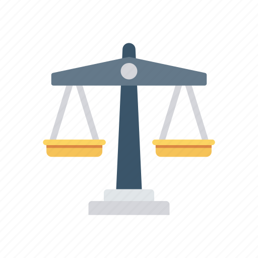 balance, court, judge, law, scale icon