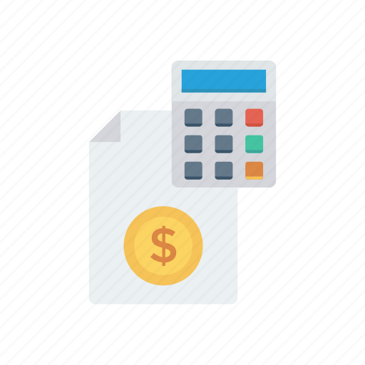 accounting, bill, calculation, invoice, tax icon
