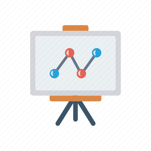 analytic, board, graph, presentation, statistic icon