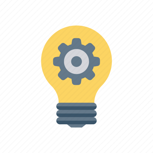 Bulb, configuration, creativity, idea, setting icon
