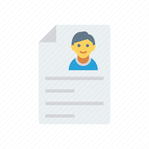cv, document, file, page, paper icon