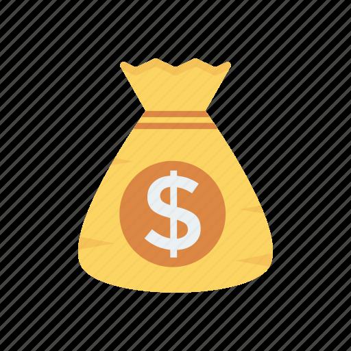 bag, cash, dollar, earning, money icon