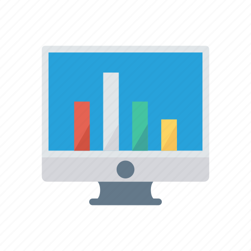 chart, graph, lcd, monitor, statistic icon