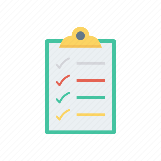 checklist, clipboard, document, page, survey icon