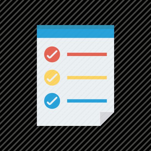 checklist, document, page, survey, tasklist icon
