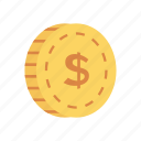 cash, coin, dollar, earing, money icon