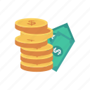 coin, dollar, earning, finance, money icon