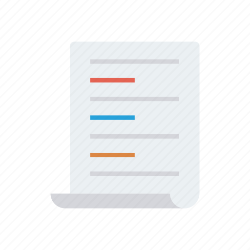 Paper, sheet, document, flyer, page icon