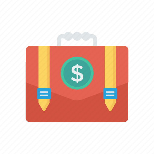 bag, business, dollar, luggage, portfolio icon