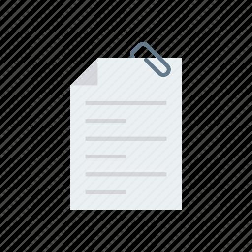 attach, attachment, clip, document, files icon
