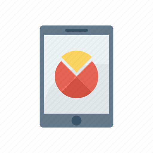 chart, device, graph, mobile, phone icon