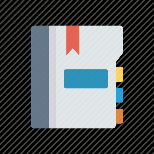 bookmark, education, knowledge, notebook, school icon