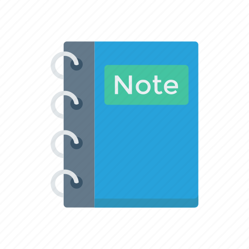 book, diary, education, notepad, notes icon