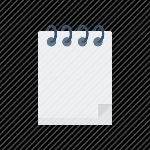 diary, education, notepad, notes, school icon