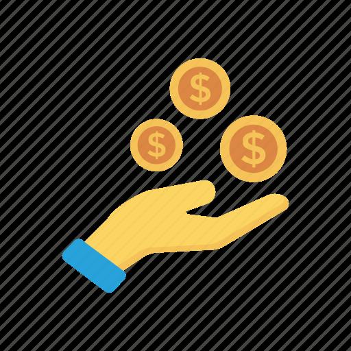 buying, cash, dollar, pay, paying icon