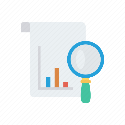 analysis, glass, report, search, sheer icon