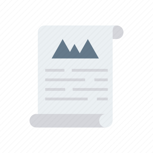Report, flyer, document, file, page icon