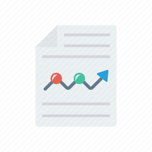 Report, document, sheet, page, file icon