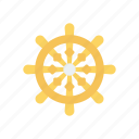 boat, handle, sail, ship, wheel icon