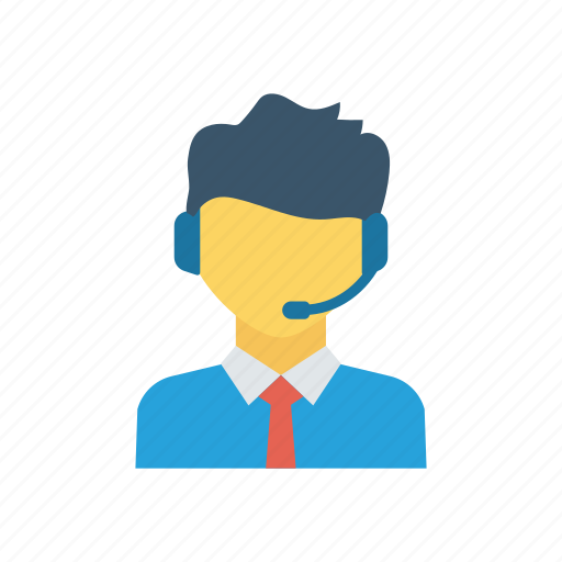 Employee, headphone, headset, services, support icon - Download on Iconfinder