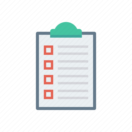 clipboard, document, page, survey, tasklist icon