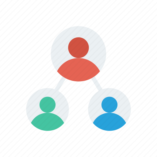 connection, group, network, organization, team icon